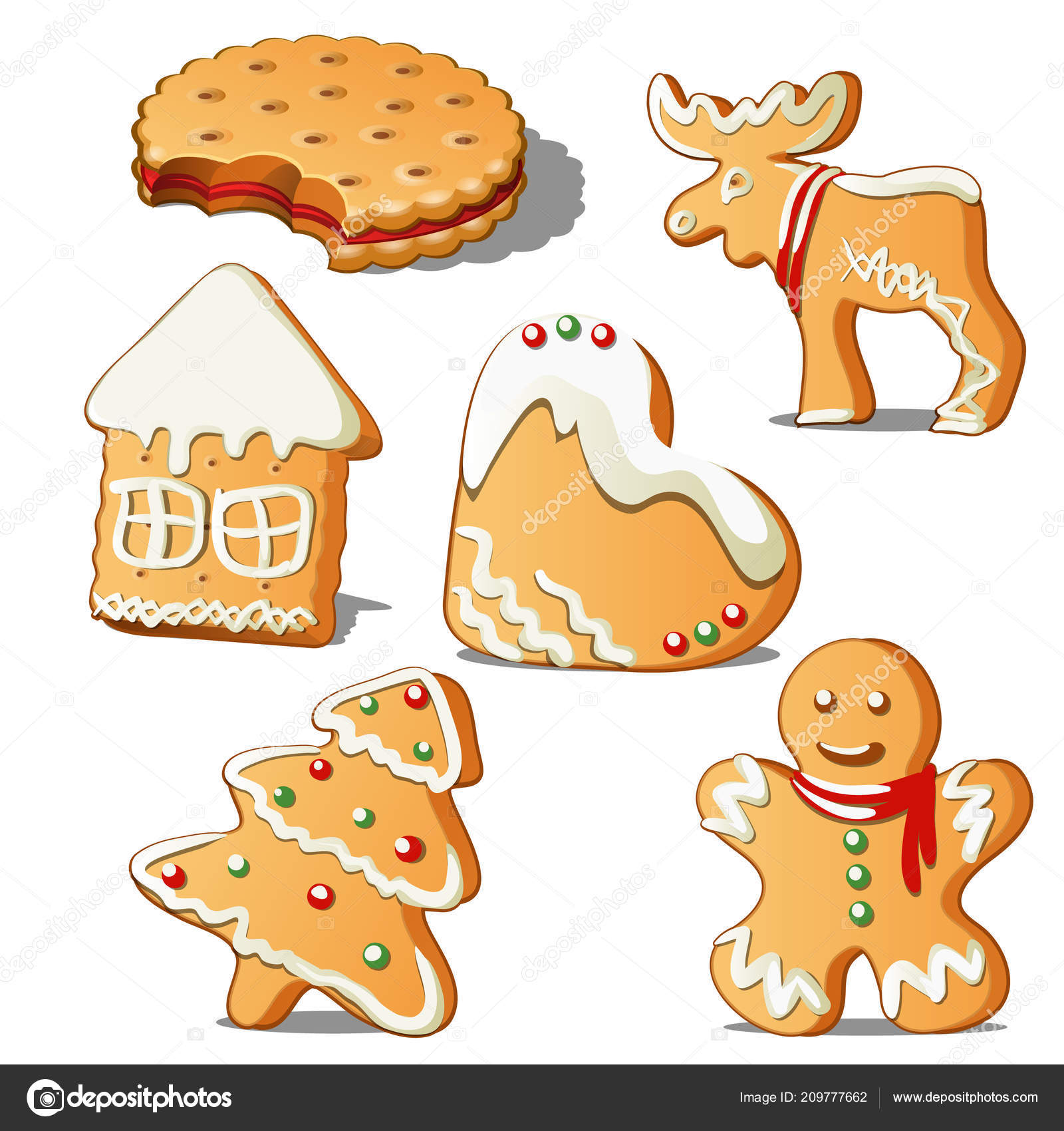 Sweet Holiday Baking Cookies In Form Of A Star House Christmas