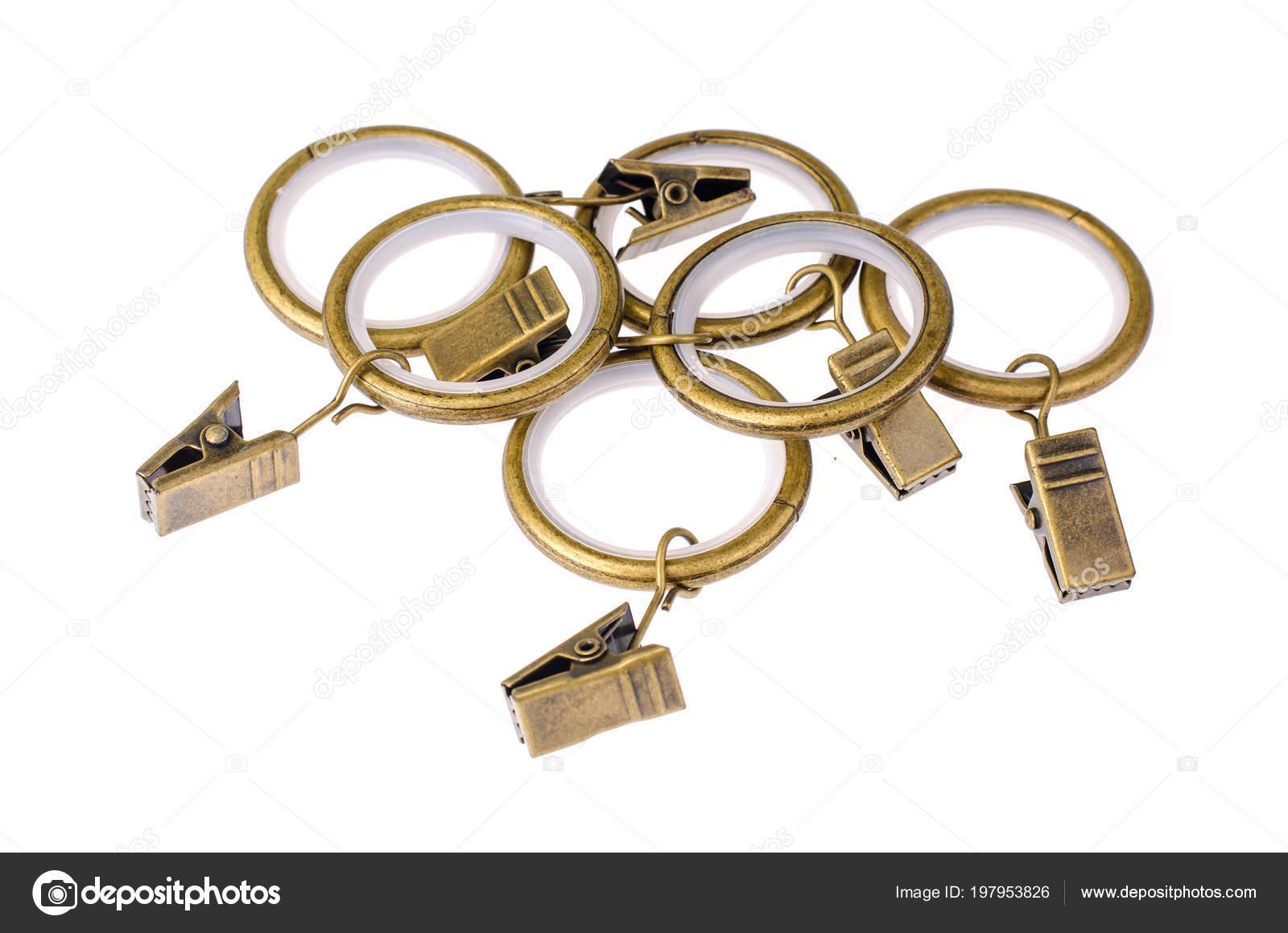 Anneaux en métal doré et Rideau pinces — Photographie ArtCookStudio ...