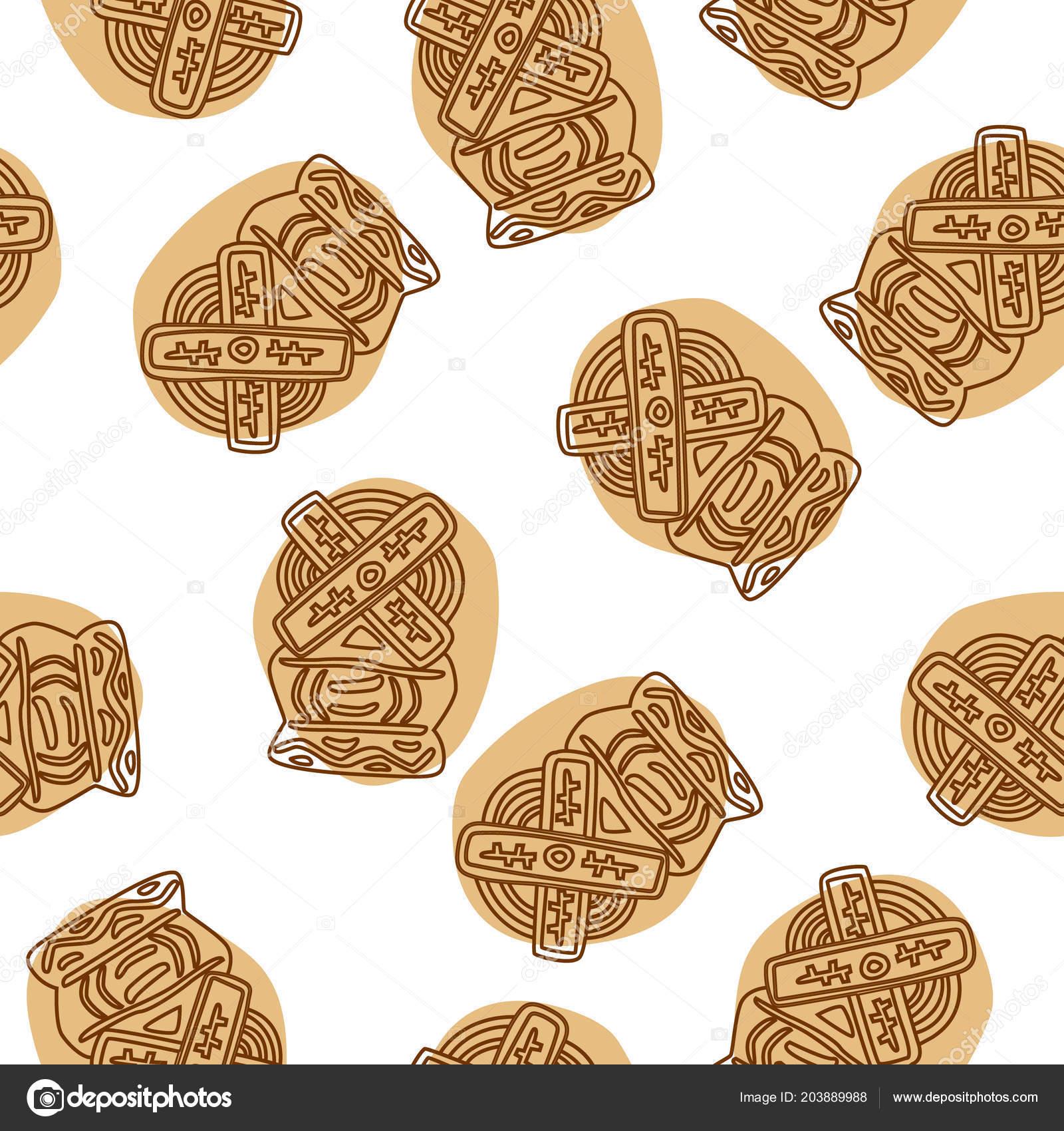 Crunchy Spekulatius Biscuits Seamless Pattern White Background