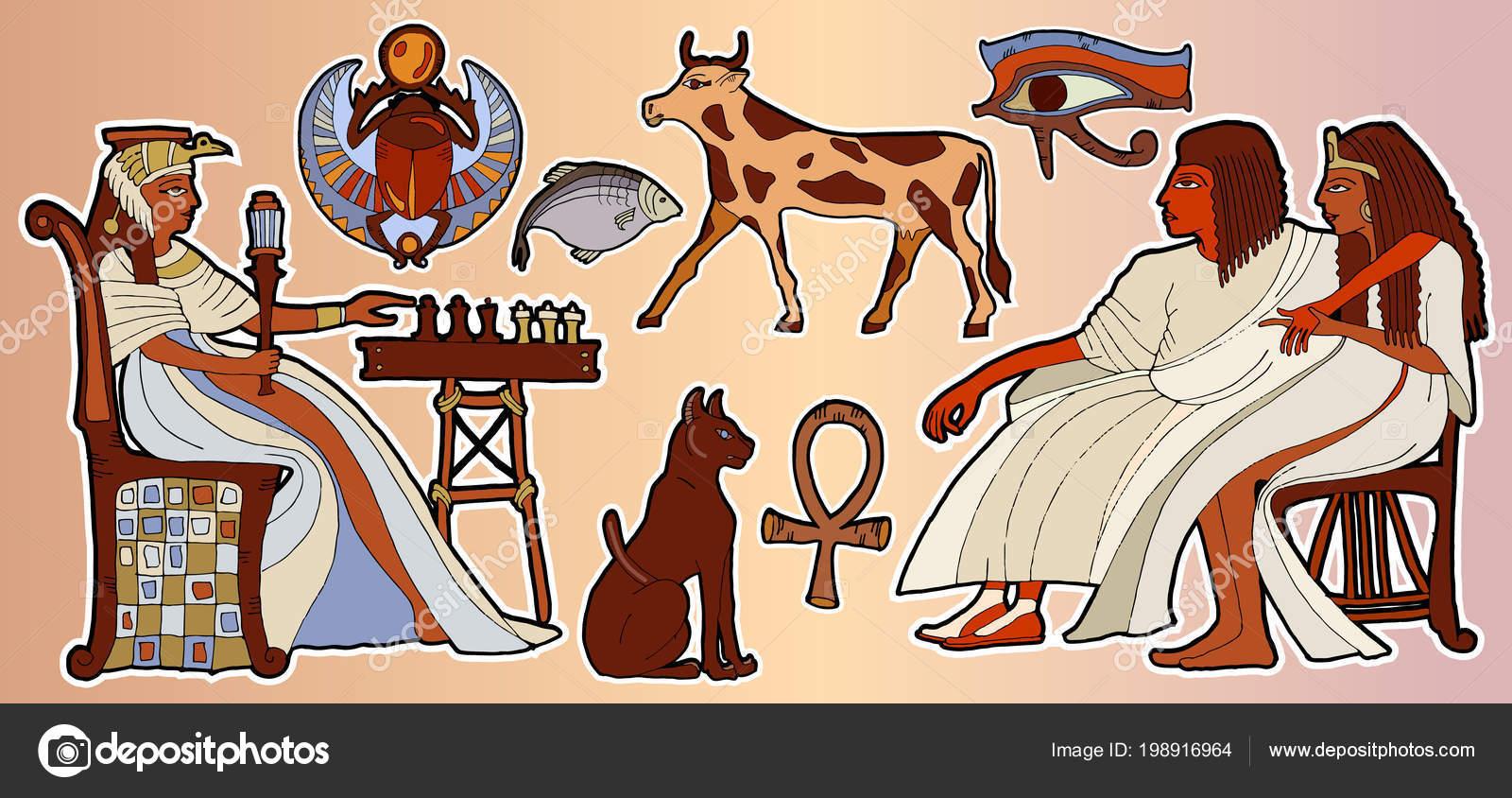 Adesivi dei faraoni egiziani patch fumetto comico stile anni moda