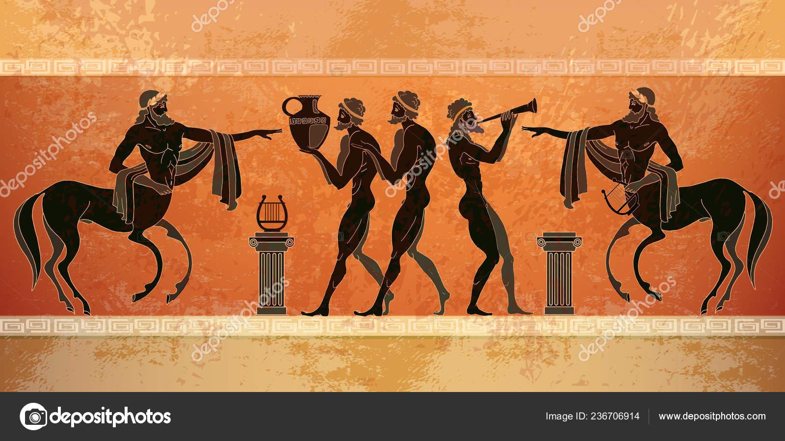 Centauro Grecia Cerámica Mitología Antigua Personas Negras Figuras KcJlTF1