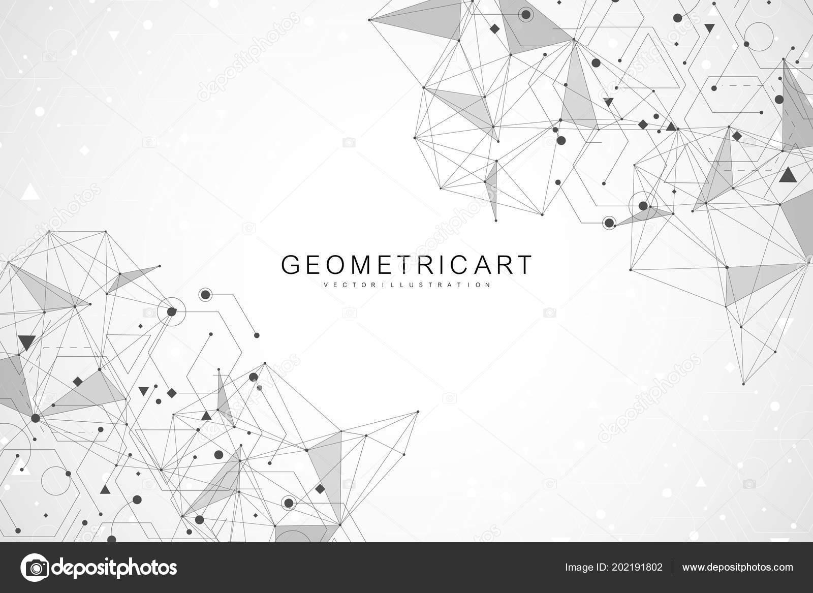Big Data Visualisierung Hintergrund Moderne Futuristische Virtuelle
