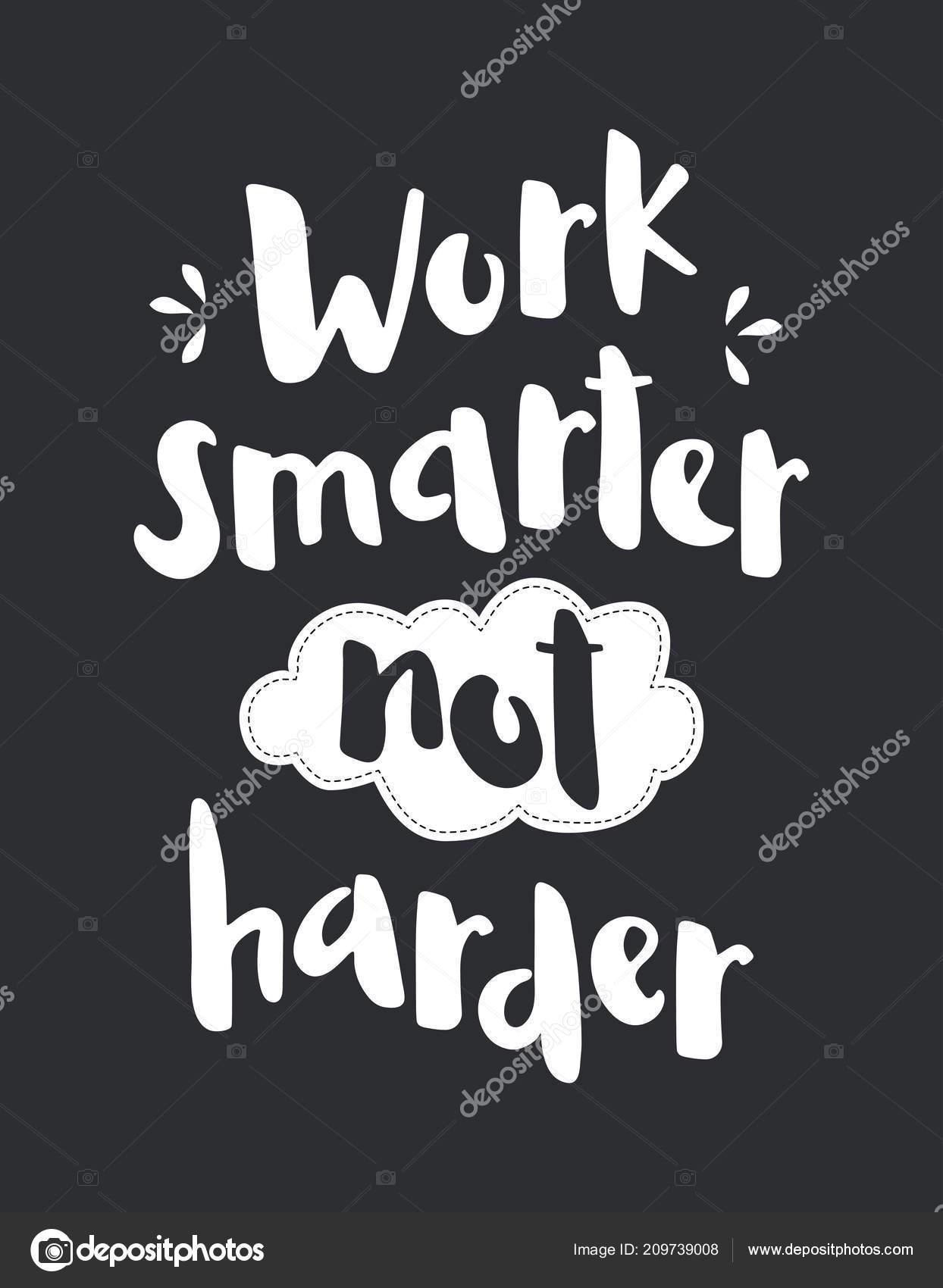 Cepillo Mano Deletreado Trabajo Inteligente Más Difícil