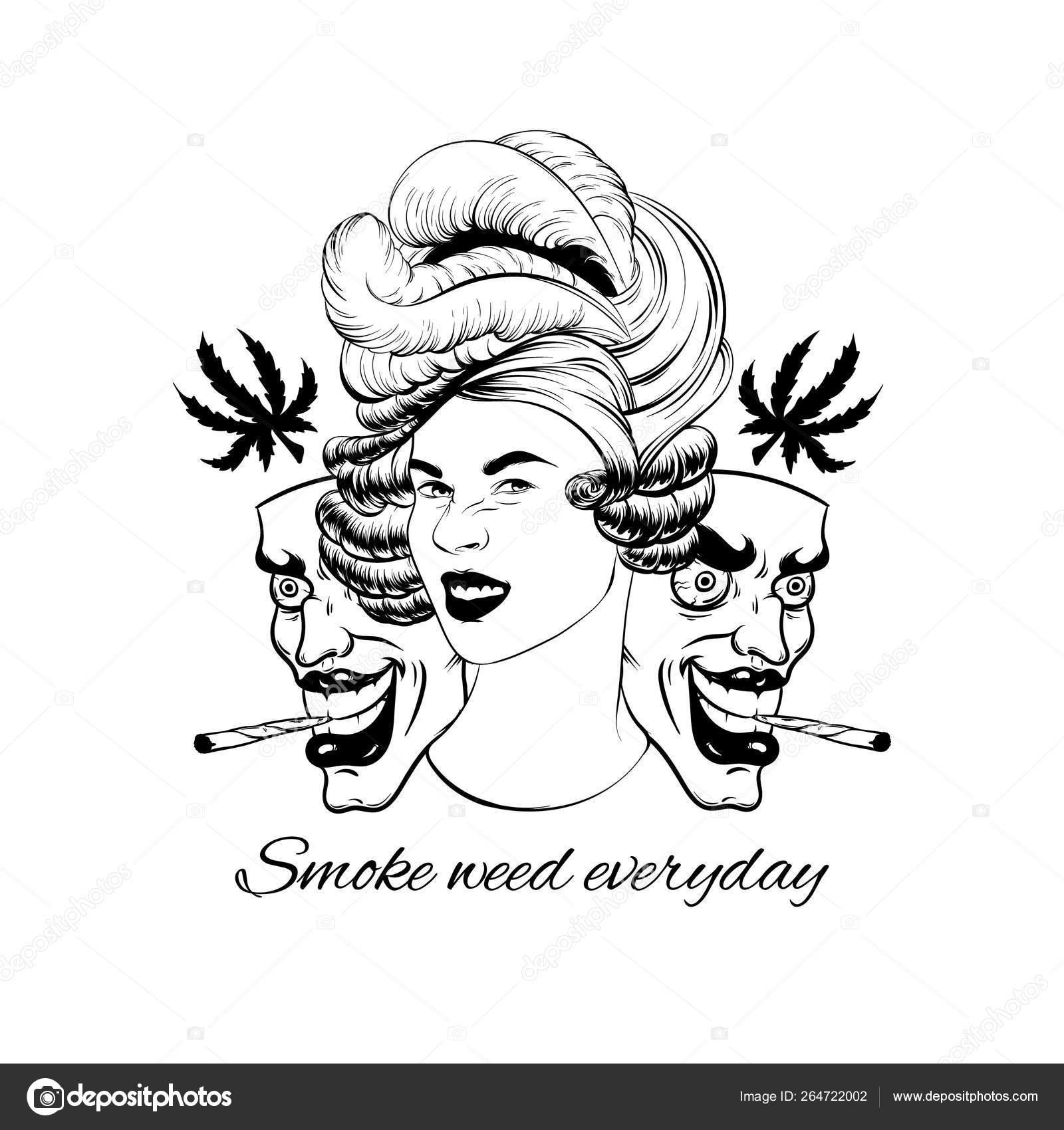 Smoke Weed Tattoo Drawings Best Tattoo Ideas