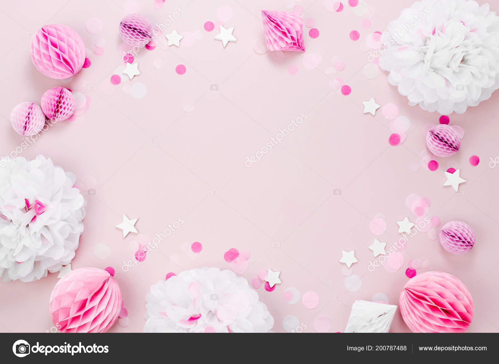 Moldura Feita Rosa Branco Papel Decoracoes Para Bebe Festa Vista