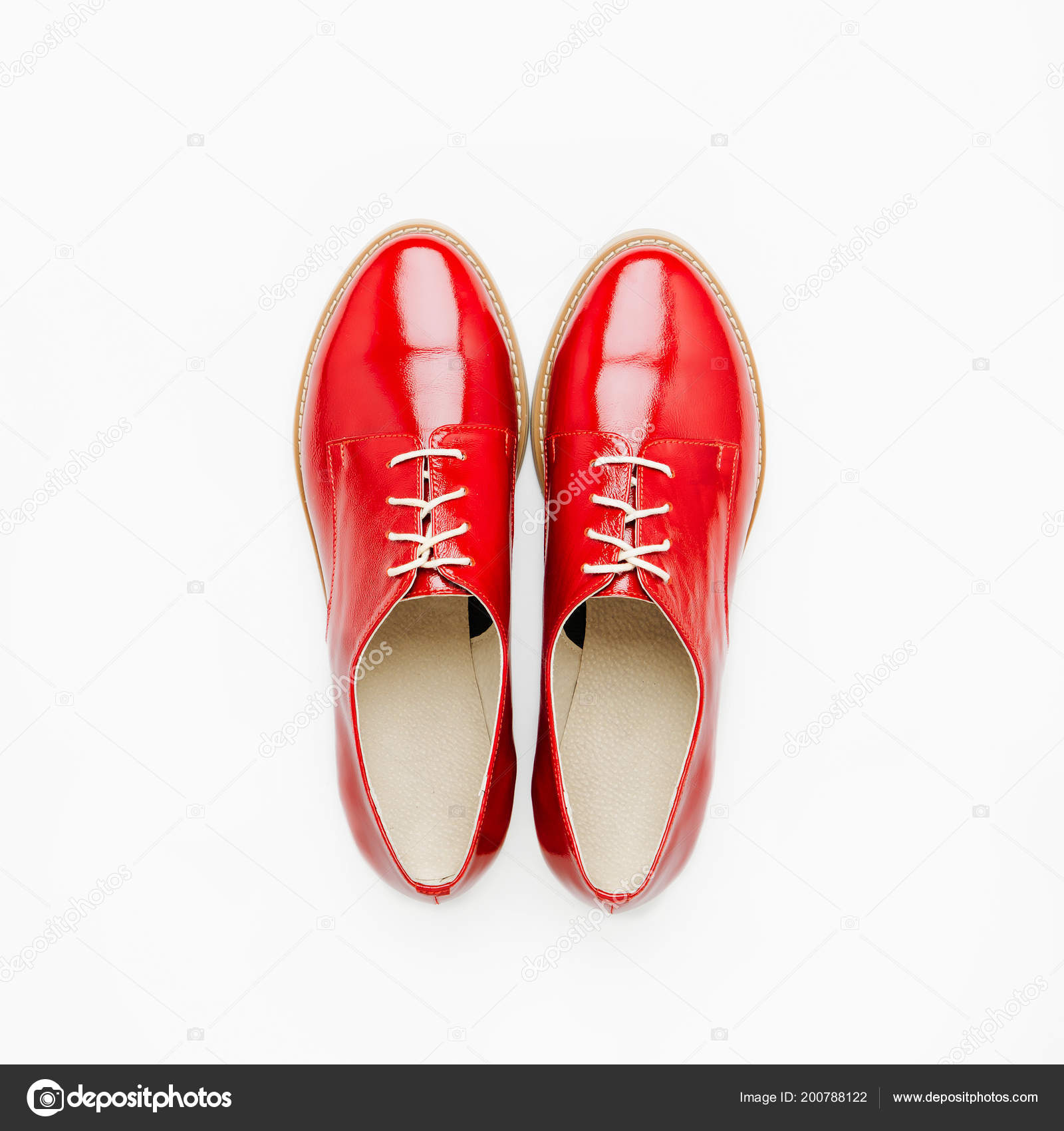 5f783cdc112278 Стильний Жіночий Весна Або Осінь Взуття Червоних Тонах Концепція Краси — стокове  фото