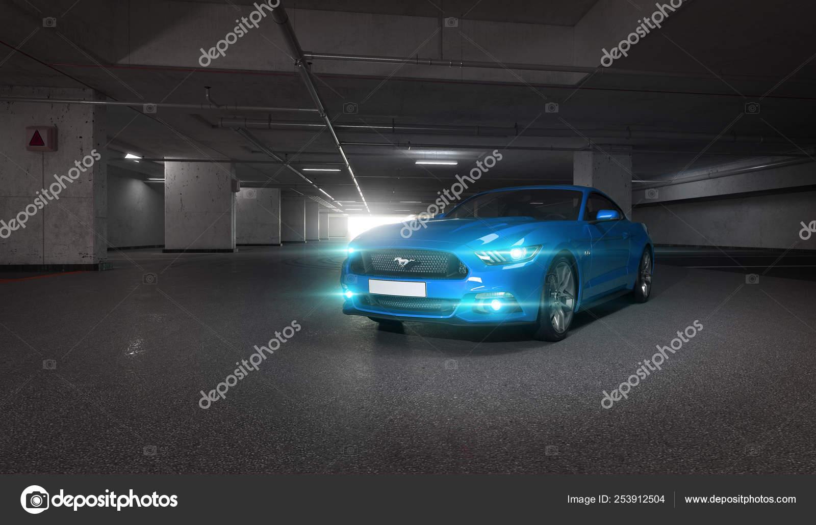 Almaty Kasachstan 28 Marz Ford Mustang V8 5 0 L