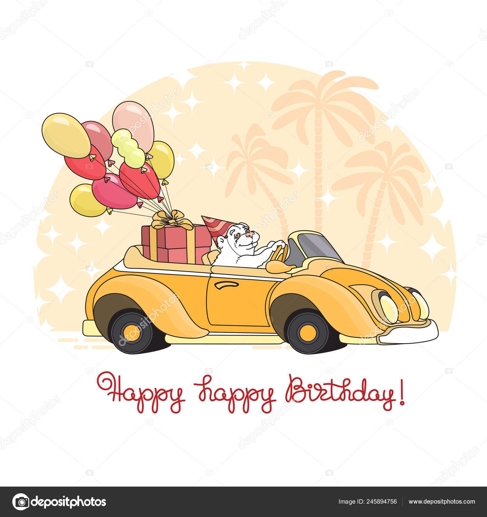 Cartolina Auguri Buon Compleanno Simpatico Cartone Animato