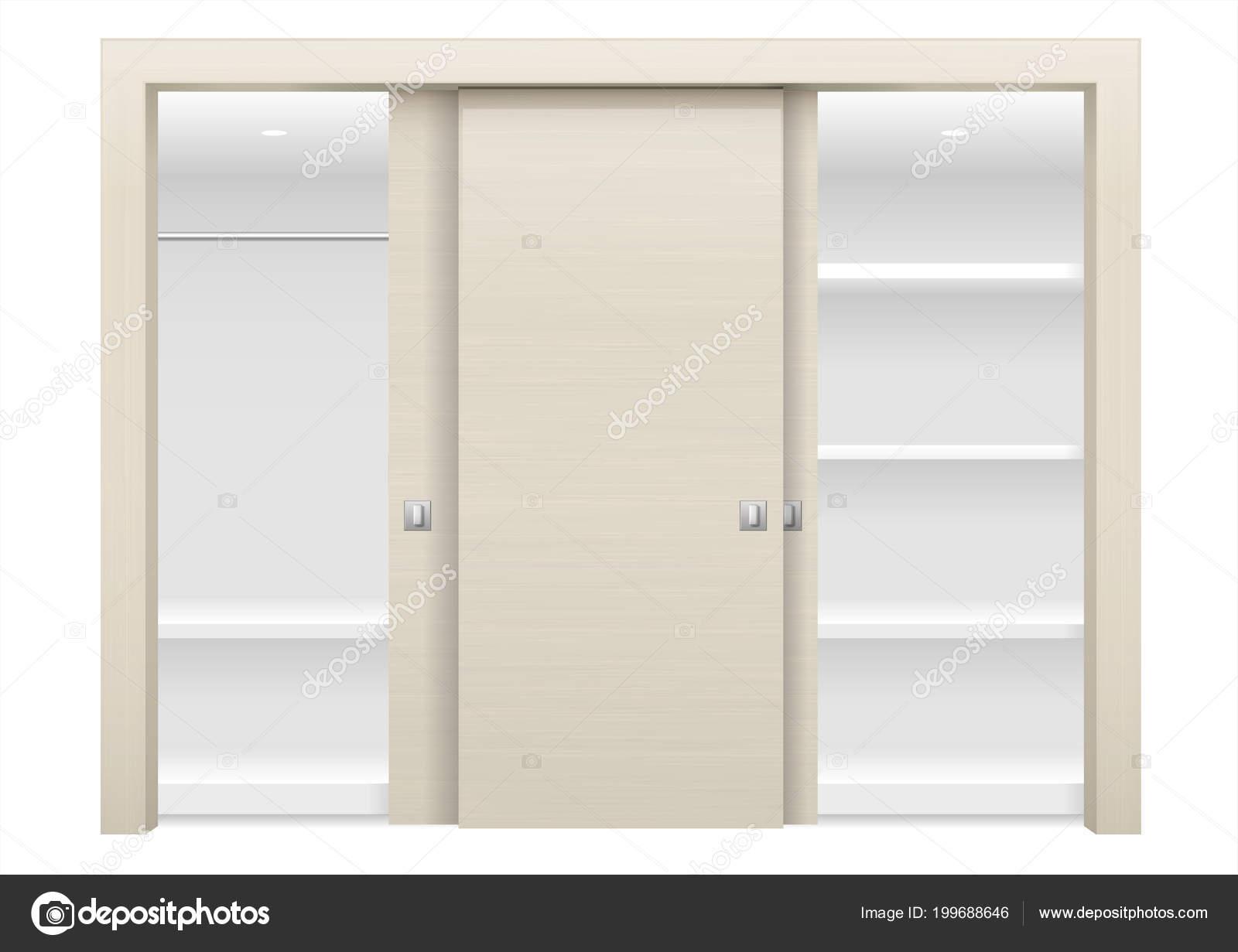 armadio ad ante scorrevoli — Vettoriali Stock © denisik11 #199688646