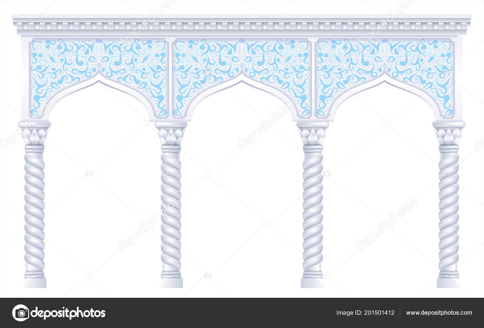 fairytale oriental indian arabian arch background cover invitation