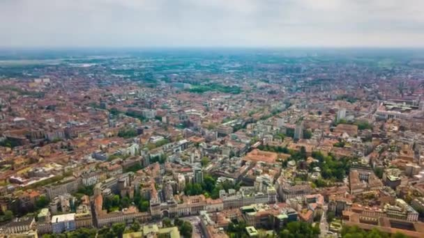4k Footage of Milan cityscape panorama at day time, Italy