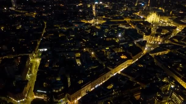 4k Timelapse Footage of Milan cityscape panorama at night time, Italy