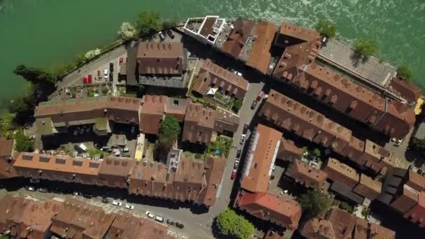 4k Footage of Bern cityscape panorama, Switzerland