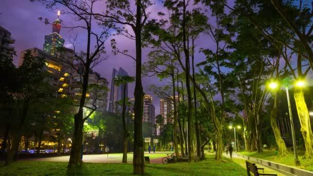 Taipei park  panorama. 4k footage china