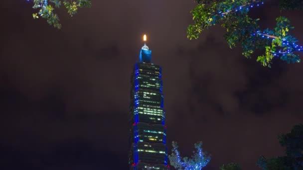 Taipei cityscape with skyscrapers panorama. 4k footage china