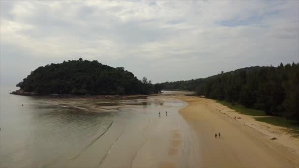 panorama shot of famous resort beach of phuket island. 4k footage