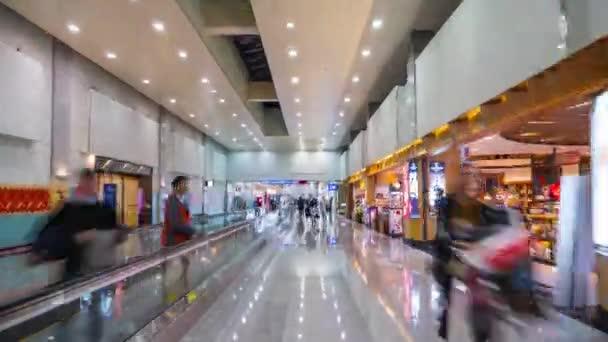 Taipei Shih zsúfolt bevásárló panoráma 4k-Kína