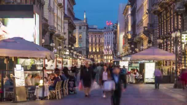 summer day milan city traffic street panorama 4k time lapse italy