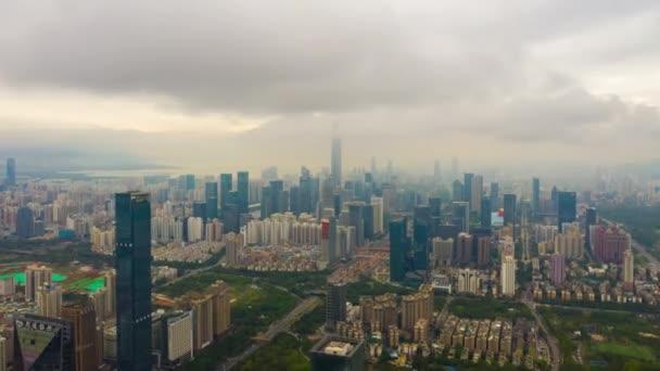 Den čas shenzhen panoráma města půdorysu 4k timelapse Čína