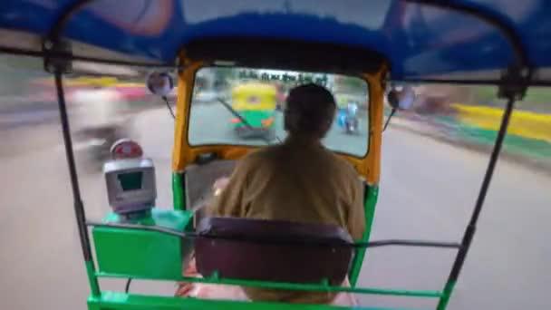 day time bangalore city traffic street rickshaw road trip passenger pov panorama 4k timelapse india