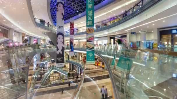 Shenzhen-január 2016: az emberek a bevásárlóközpontban 4k TimeLapse felvételeket