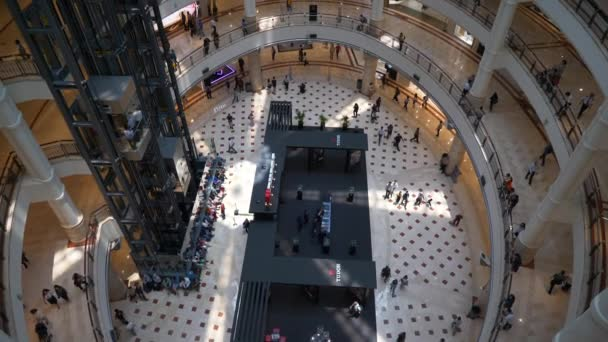 KUALA LUMPUR, MALAYSIA - JUNE 2019: famous petronas towers suria klcc mall walking by circa january 2019 kuala lumpur, malaysia.