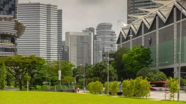 Singapurská anténa nahoře na panoráma Panorama 4 k časový záběr