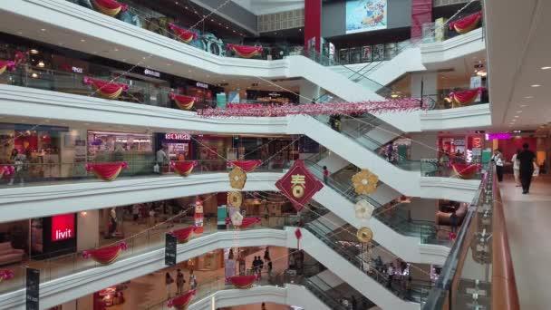 SINGAPORE, SINGAPORE - JANUARY 2019: shopping mall interior view circa january 2019, singapore.