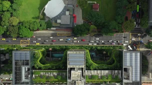 denní let nad Singapurem městské dopravní letectvo Panorama 4 KB záběr