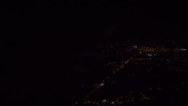 Flight over Bangalore night city high aerial panorama 4k india