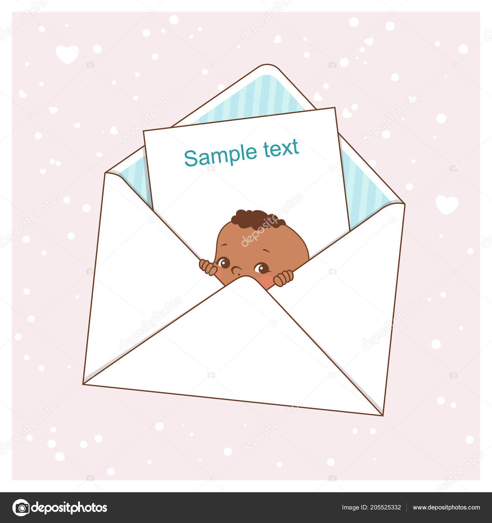 baby shower card cute little baby boy envelope ethnic children
