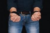 ruce bílého muže v kožených poutech