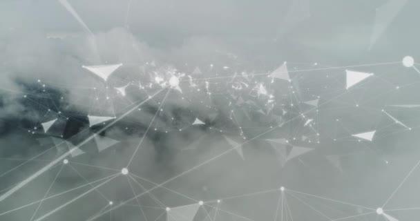 Pozadí záběrů s cloud computing koncepce připojení