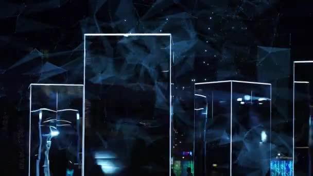 Galaxy abstrakce reflexe animace, zářící galaxie abstraktní vesmír vesmírný pohled.