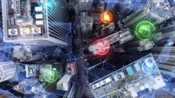 Inteligentní koncepce města. To je Internet. Informační komunikační technologie informačních a komunikačních technologií .