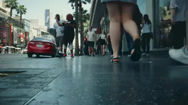 Time lapse of people walking in Hollywood Blvd. in Los Angeles, California