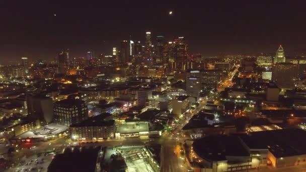 Nádherný Vzdušný záběr z Los Angeles, Ca v noci