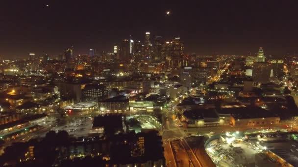 Noční Vzdušný záběr z Los Angeles