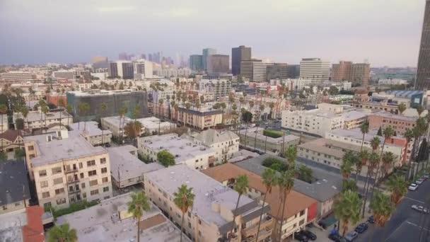 Szép légi felvétel a Koreatown, Los Angeles, Kalifornia