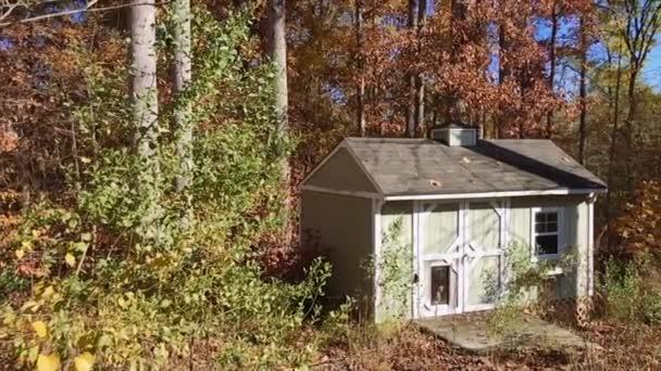Őszén erdő közepén egy kis gyönyörű házban nappali pán lövés.