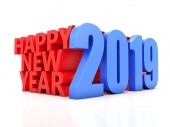 Photo     Happy New Year 2019 - 3D Rendered Image