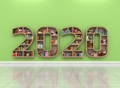 Photo New Year 2020 Creative Design Concept - 3D Rendered Image
