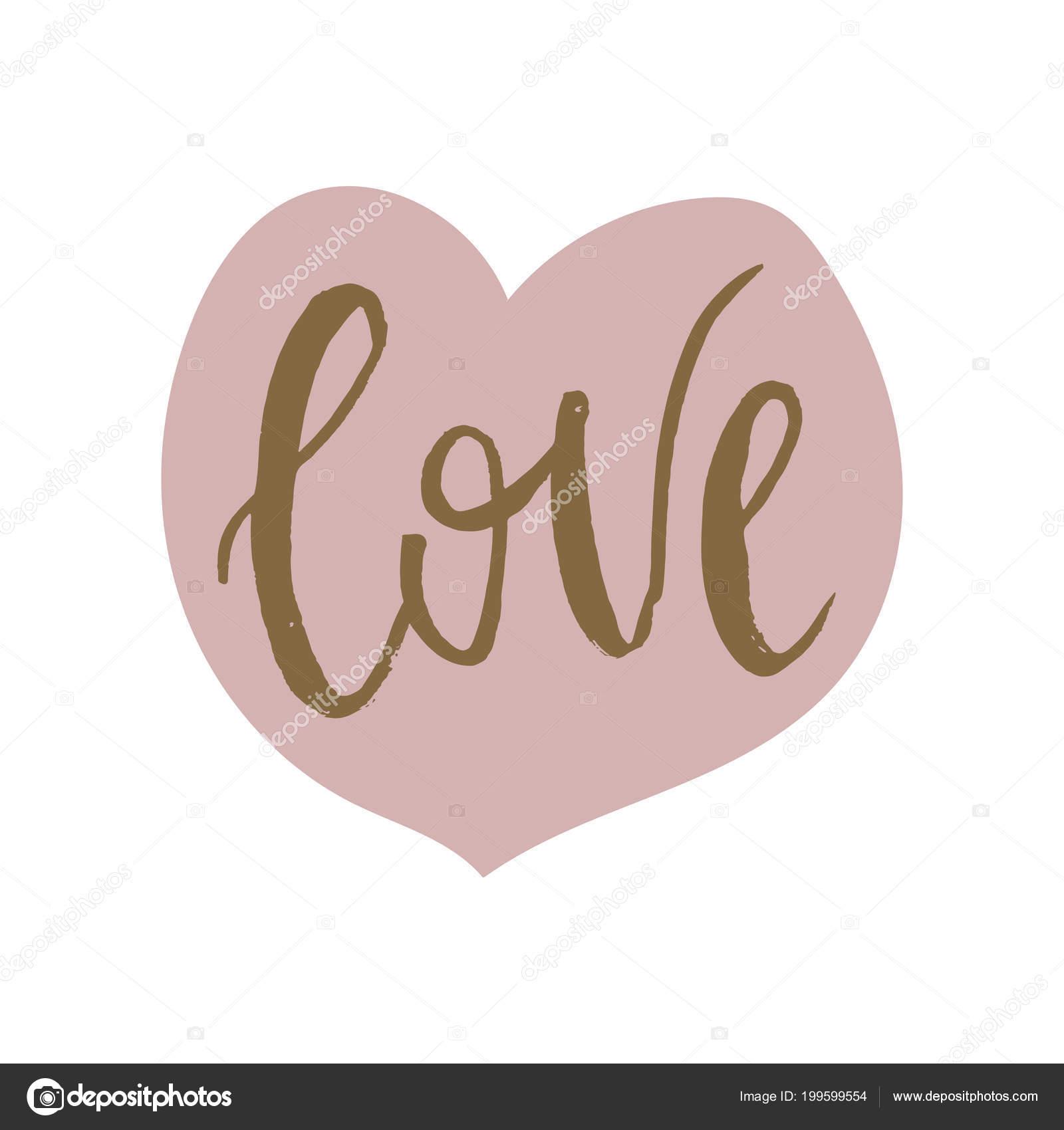 Rucne Kreslene Vektorove Ilustrace Laska Srdce Plakat Den Svateho