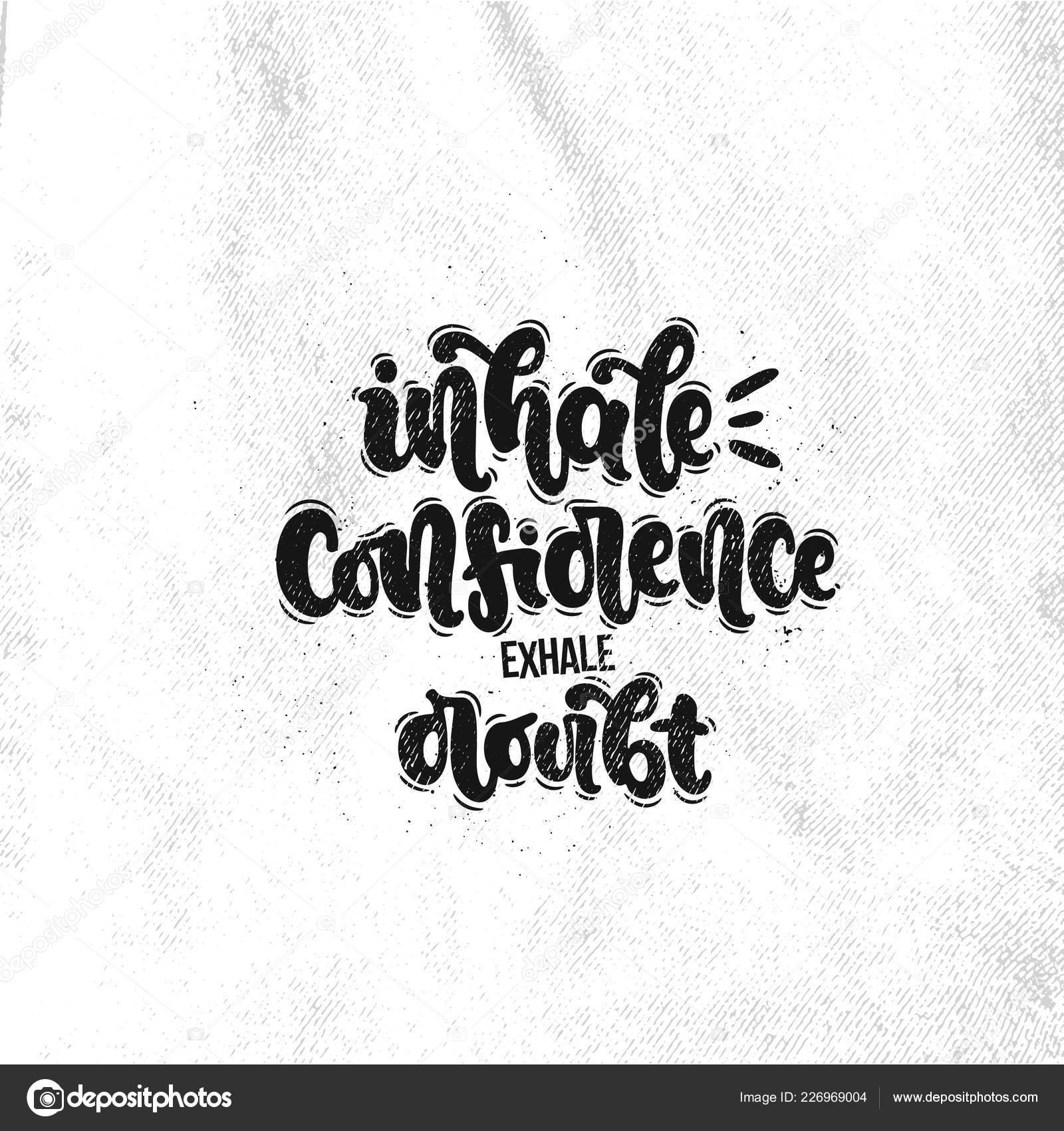 Vector Ilustración Dibujado Mano Caligrafía Frases Confianza