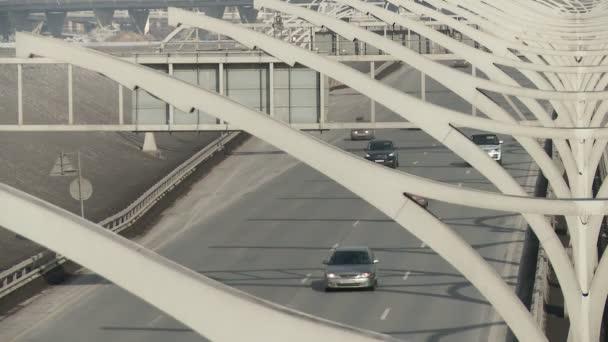 City highway traffic video