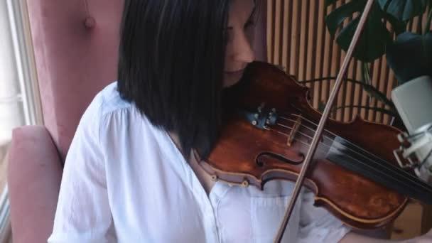 A hegedű nő hegedűművész