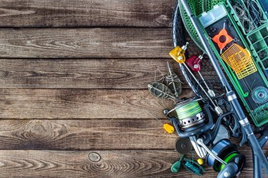Fishing tackle - fishing spinning,Carp fishing rods, hooks and l