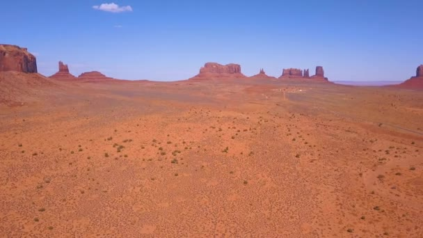 Aerial view of the Monument Valley National park in Utah, USA.