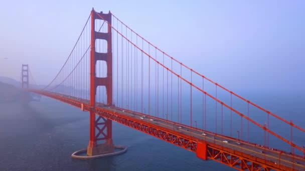 picturesque aerial Golden Gate Bridge view from above over the bay in San Francisco
