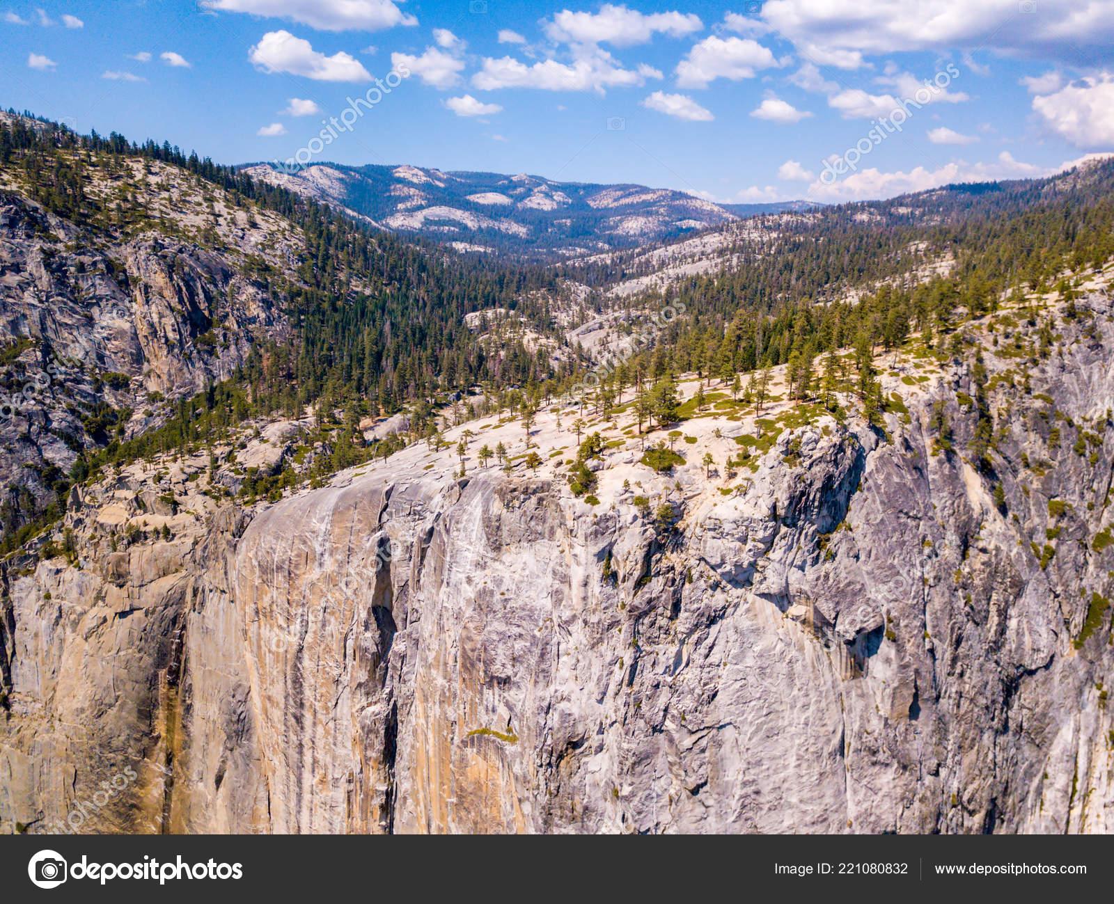 Aerial View Yosemite National Park Capitan Half Dome Cliff